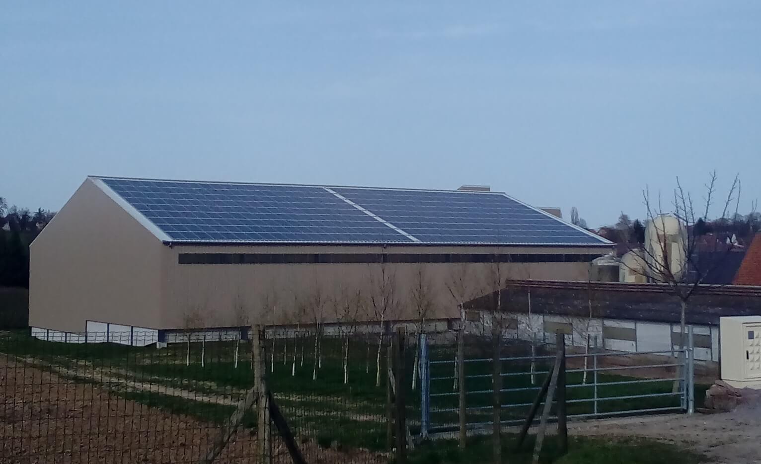 Centrale solaire à Berstett